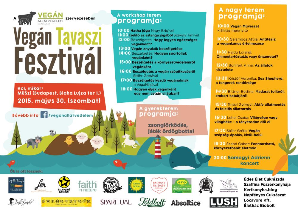 Vegán Tavaszi Fesztivál plakát