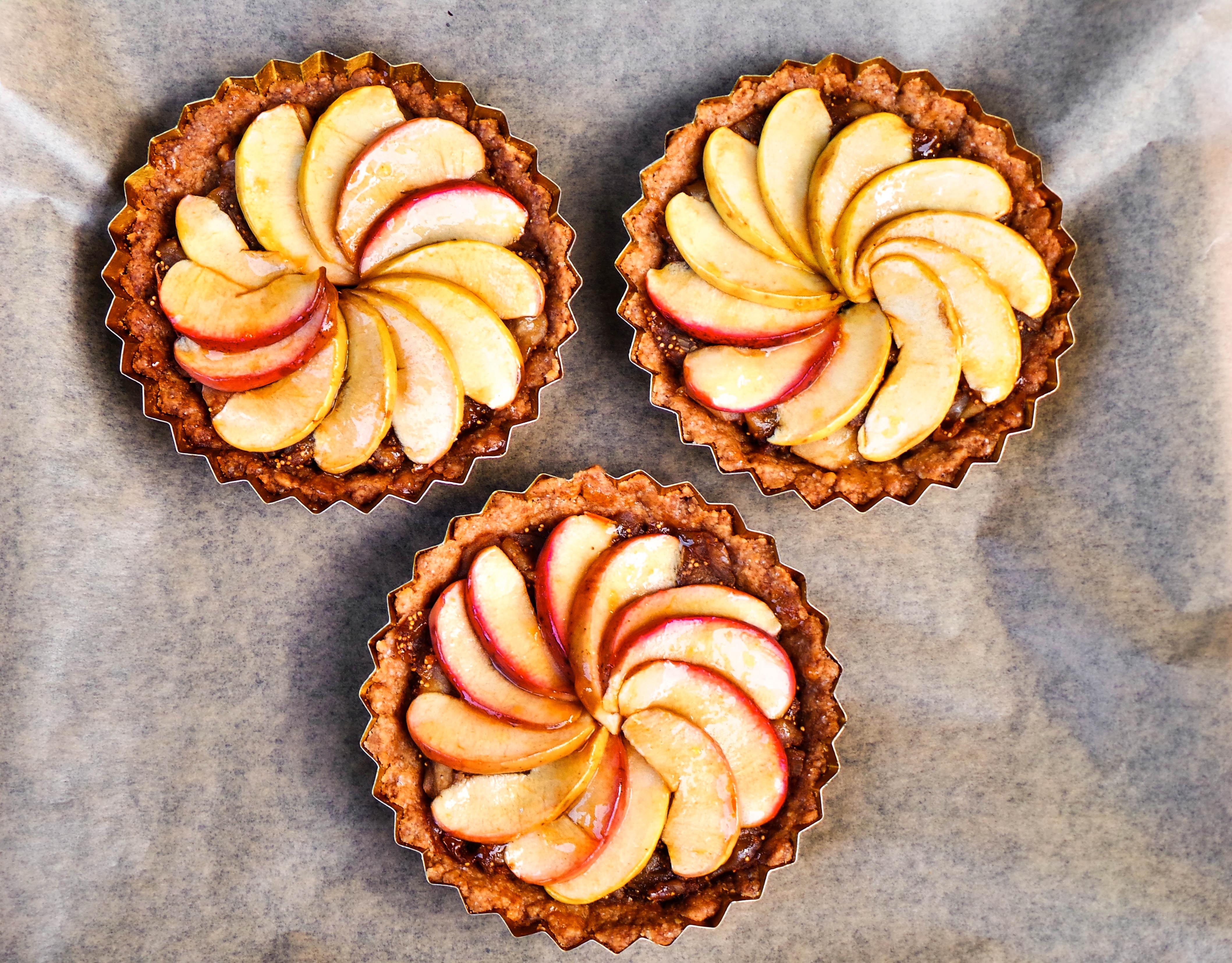 vegán almás fügés tart recept