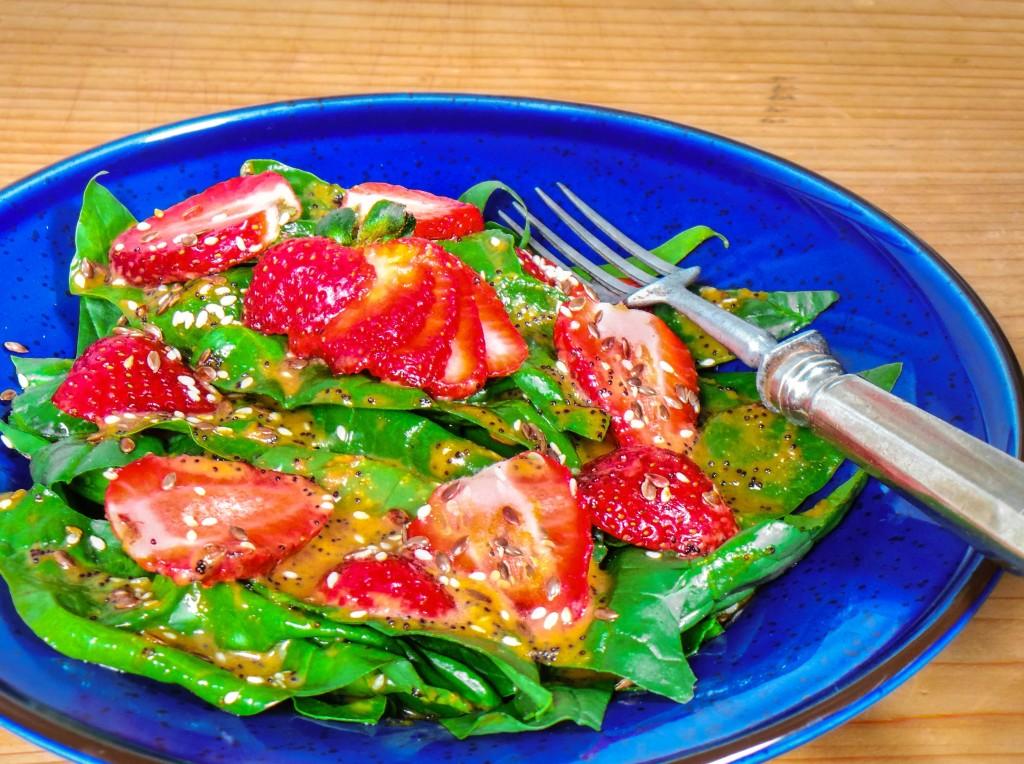 epres spenótsaláta recept - vegán